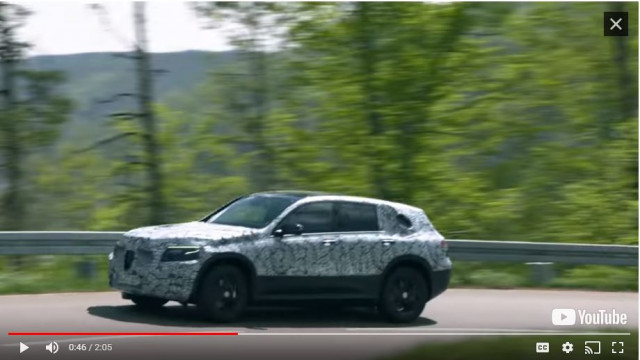 Mercedes-Benz EQC prototype testing in Black Forest