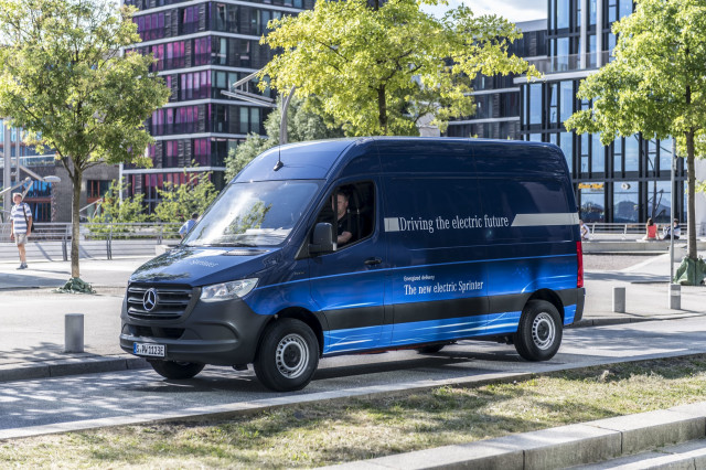 Mercedes Benz Esprinter Electric Delivery Van In Germany