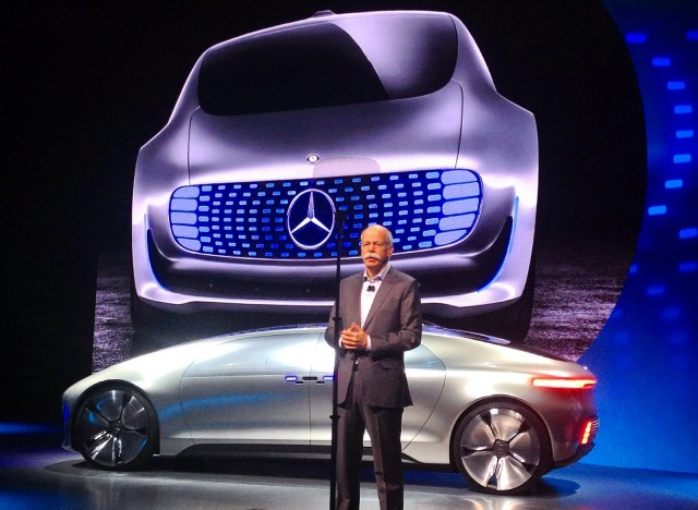Mercedes-Benz F015 Luxury in Motion concept, 2015 Consumer Electronics Show [photo: Matthew Askari]