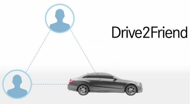 Mercedes-Benz mbrace Drive2Friend feature