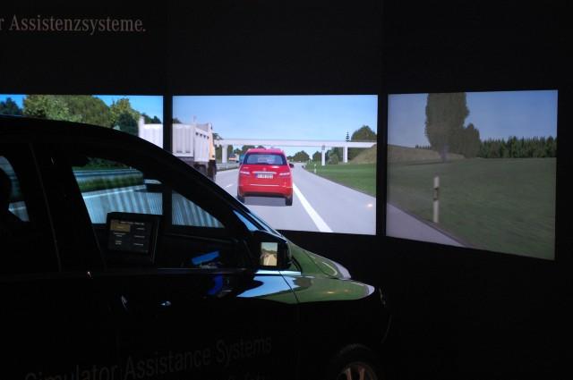 Mercedes-Benz safety systems simulator, 2011 Frankfurt Auto Show