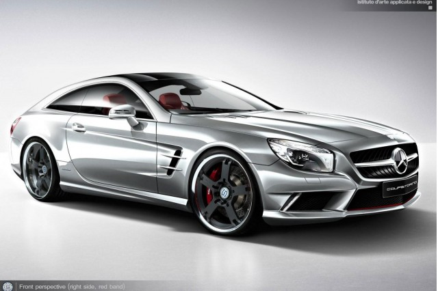 Mercedes-Benz SL Class-based CoupeTorino design study by StudioTorino