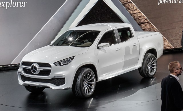 Mercedes benz hops into beds with new x class pickup truck for Mercedes benz trucks price list