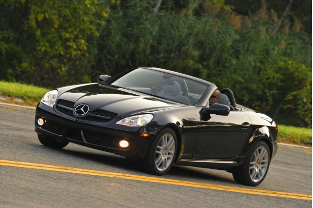 Cameron diaz is obviously a class act for 2009 mercedes benz slk350