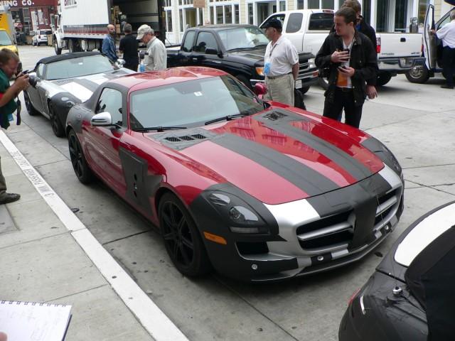 2011 Mercedes-Benz SLS - partially concealed