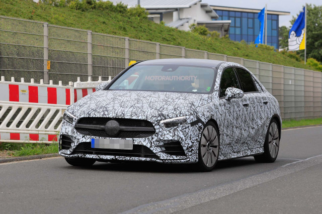 2019 Mercedes-AMG A35 sedan spy shots