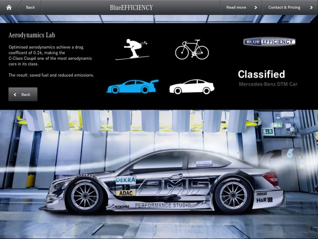 mercedes benz launches c class brochure app. Black Bedroom Furniture Sets. Home Design Ideas