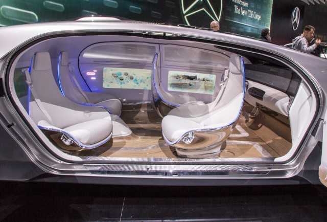 Mercedes F015 autonomous concept live photos, 2015 Detroit Auto Show