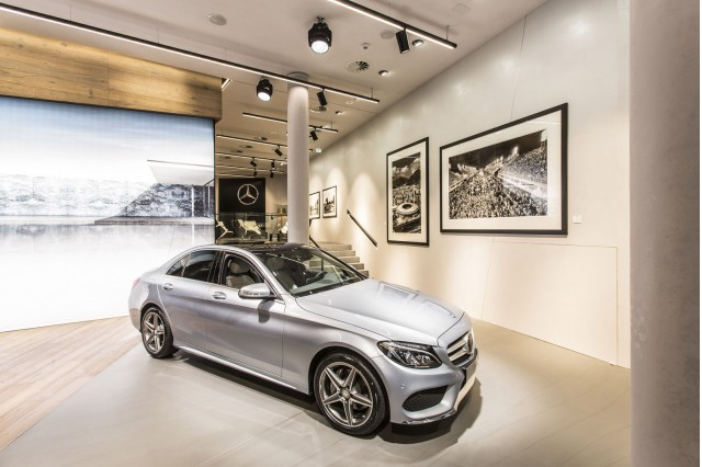 Mercedes me brand store in Hamburg, Germany