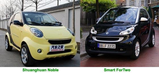 Mercedes versus Shuanghuan