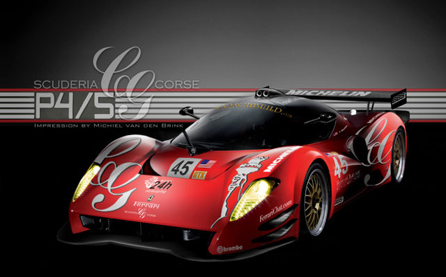 Michiel Van Den Brink's latest rendering of the Glickenhaus P4/5 Competizione