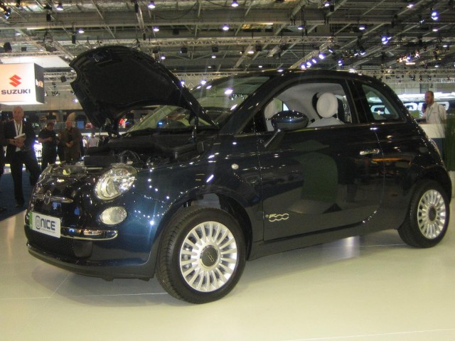 Micro-Vett electric Fiat 500 from NICE Car Company, 2008 London Motor Show