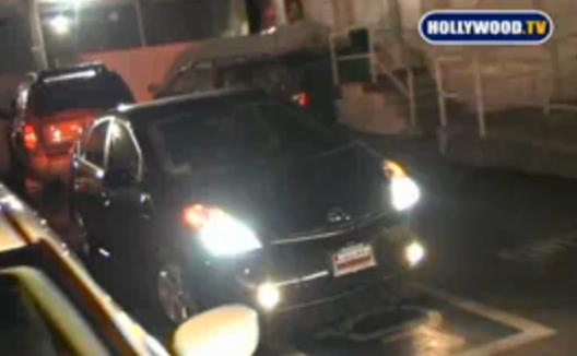 Miley Cyrus backing her Toyota Prius out of handicapped space at Millions of Milkshakes, Los Angeles