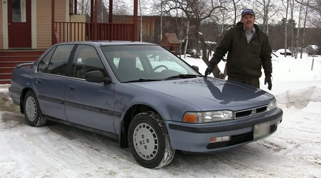 Million Mile Joe and his 1990 Honda Accord. Image: Honda