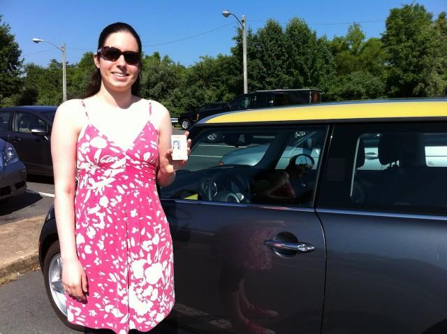 Taking a Driving Test in a 2009 MIni E