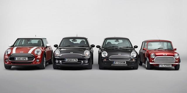 MINI Cooper generations