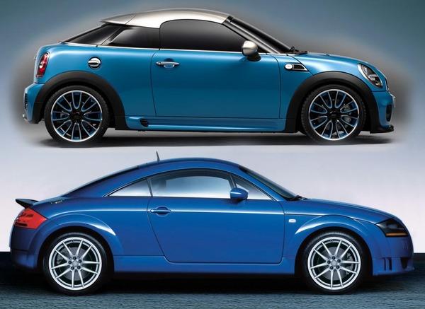 Mini Coupe Concept Celebrates 50 Years Of Minis Targets Audi Tt