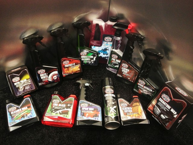 Mister Cartoon's range of Sanctiond car care products