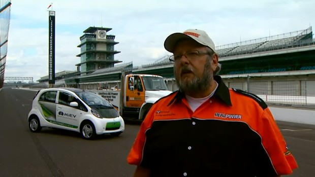Mitsubishi i takes on Indy 500