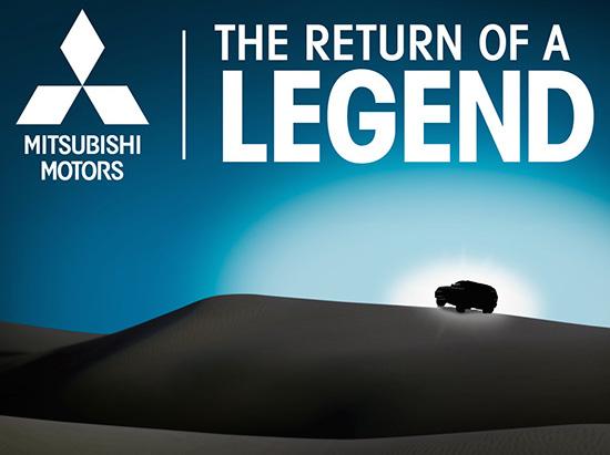 Mitsubishi Montero teaser for 2015 Chicago Auto Show