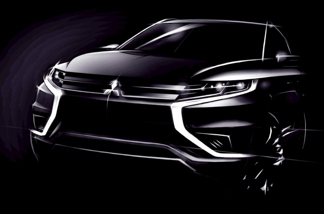 Mitsubishi Outlander Concept-S plug-in hybrid sketch