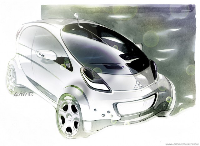 mitsubishi prototype imiev sketch 001