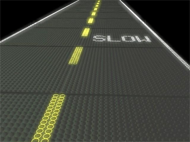 Mock-up of road design by Solar Roadways
