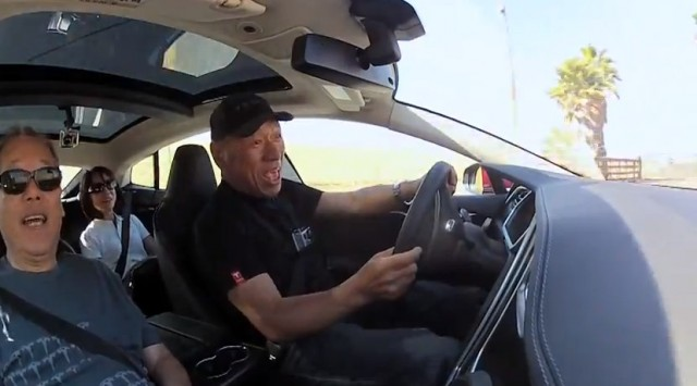 Monster Tajima Drives 2012 Tesla Model S