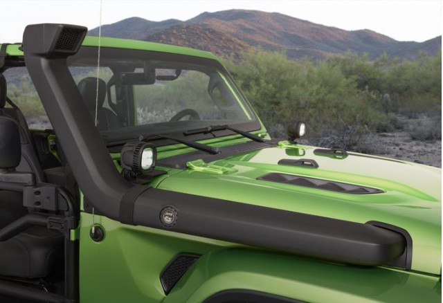 Mopar-modified Jeep Wrangler features a snorkel
