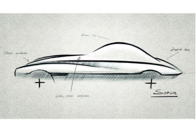 Sketch for potential Morgan sports car due in mid-2020s