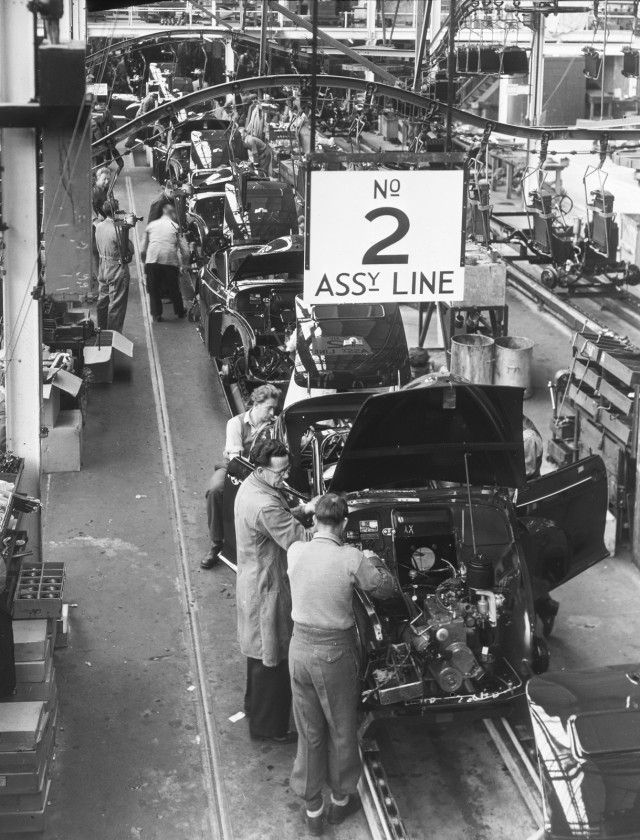 Morris Motors plant at Cowley (now MINI Plant Oxford) - Morris Minor Series MM assembly line
