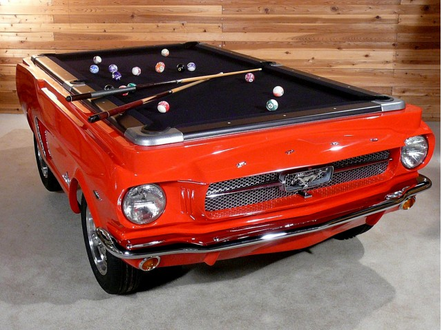 Ford Mustang Collectors Edition Pool Table - Mustang pool table