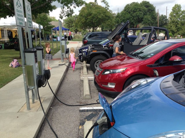 National Drive Electric Week 2014: Charging in Austin. Photo by Aaron Choate.