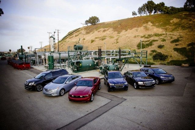 Natural-gas vehicle prototypes, Los Angeles, May 2013 - group shot at Playa del Rey storage field