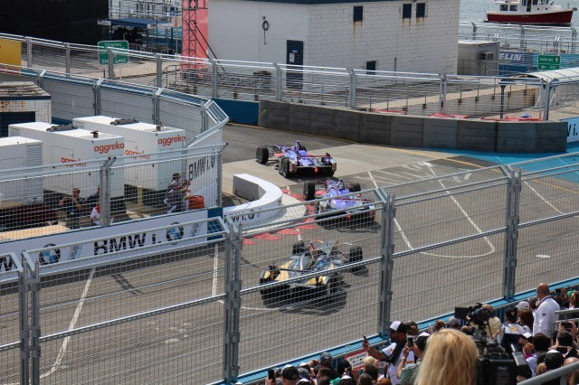 New York City ePrix FIA Formula E electric-car race, Red Hook, Brooklyn, July 2017