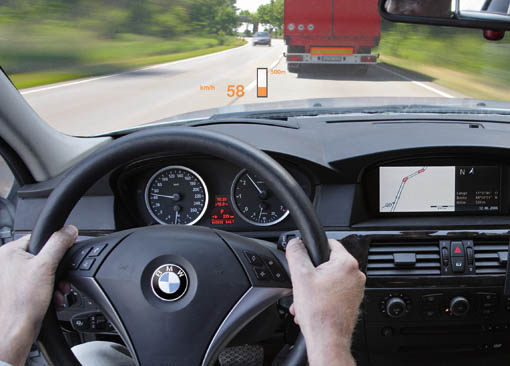 Next-generation HUD from BMW