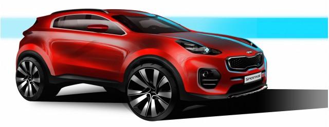 Teaser for 2017 Kia Sportage concept debuting at 2015 Frankfurt Auto Show