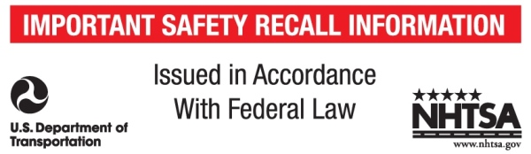 NHTSA's mandatory label for safety recall notices