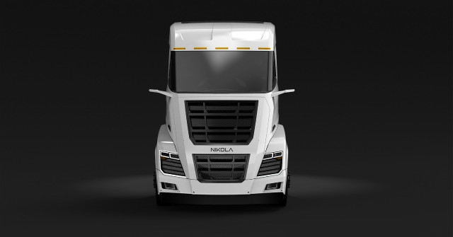 Nikola Two fuel cell semi rendering