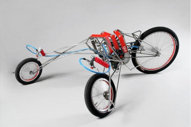 Nils Ferber EX electric drill-powered trike