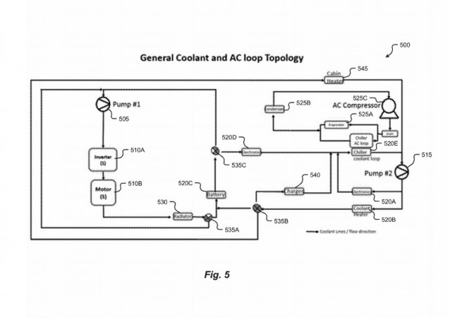 NIO battery cooling - coolant loop patent