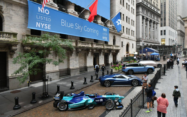 Nio shares start trading on New York Stock Exchange on September 12, 2018