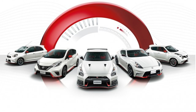Nismo models based on the Nissan Micra, Note, GT-R, 370Z and Juke