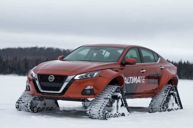 Nissan takes AWD seriously, puts Altima on tracks