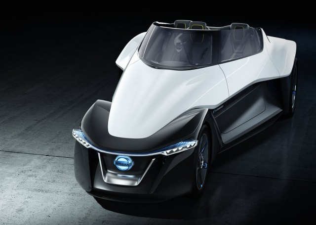 Wonderful Nissan BladeGlider Electric Sports Car Concept   2013 Tokyo Motor Show