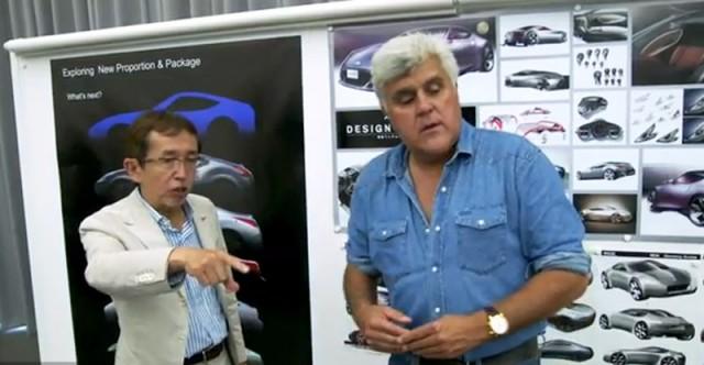 Nissan design chief Shiro Nakamura and Jay Leno