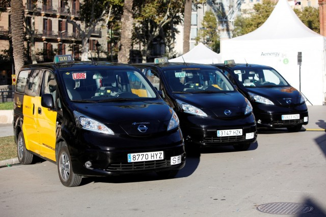 Nissan e-NV200 taxis in Barcelona