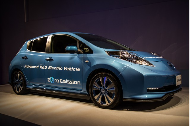 2018 nissan electric. interesting 2018 nissan leaf u0027advanced ru0026d electric vehicleu0027 shown at company annual  meeting yokohama to 2018 nissan electric v