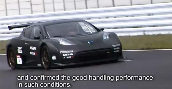 Nissan Leaf Nismo Rc Electric Race Car Hits The Track Video