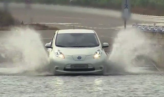 Nissan Leaf undergoing extreme testing